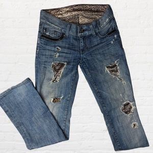 Marciano Low Rise Distressed Bootcut Jean Size 25